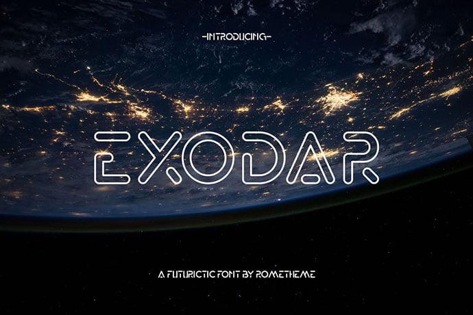 Exodar - 39+ Amazing Outline Fonts For Designer [year]