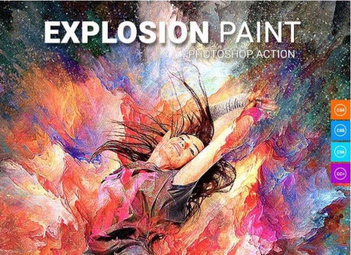 Explosion-Paint - 33+ Beautiful Impressionist Art Photoshop Actions [year]