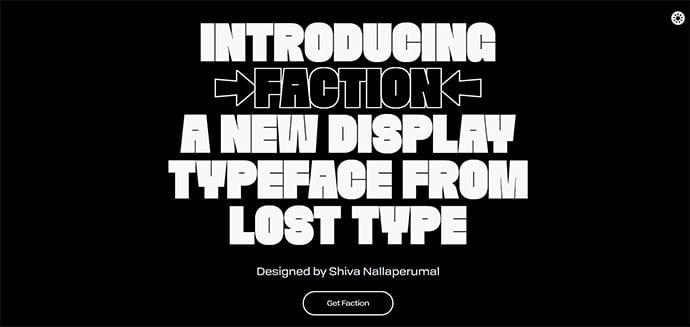 FACTION - 39+ Amazing Outline Fonts For Designer [year]
