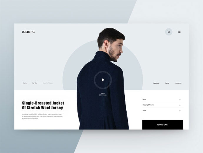 Fashion-Store-Iceberg - 53+ Awesome Shopping Cart UI Designs [year]