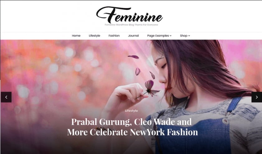 Feminine - 35+ Free WordPress Blossom Themes and Templates [year]