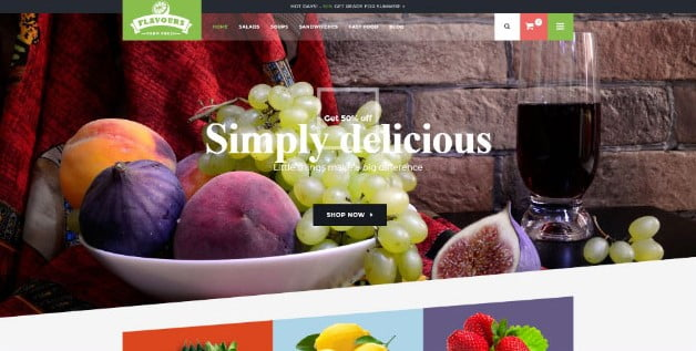 Flavours - 39+ Best Fruit & Vegetable WordPress Themes [year]