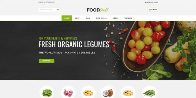Food-Stuff - 39+ Best Fruit & Vegetable WordPress Themes [year]