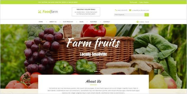 FoodFarm - 39+ Best Fruit & Vegetable WordPress Themes [year]
