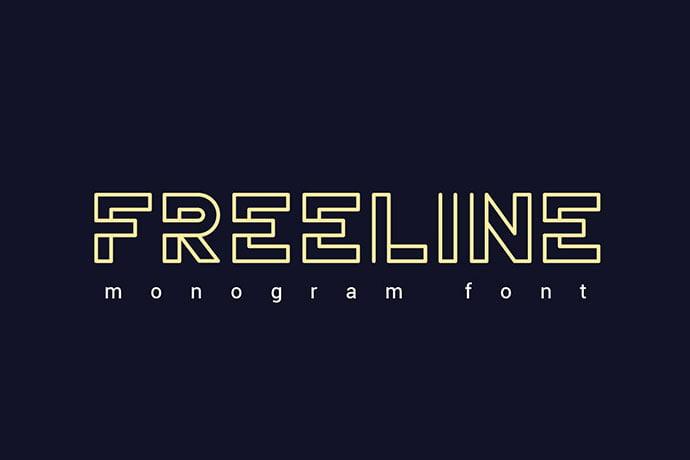 Freeline-Font - 39+ Amazing Outline Fonts For Designer [year]