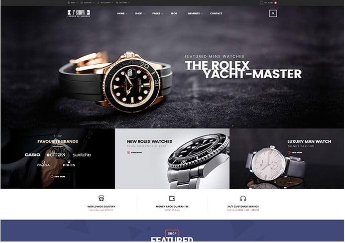 Fshow - 34+ Top Online Watch Shop WordPress Themes [year]