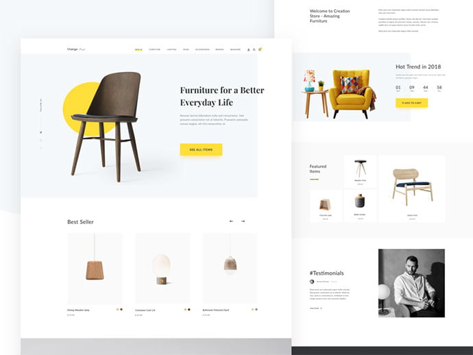Furniture-Pages - 63+ Impressive Free Furniture Web UI Example [year]