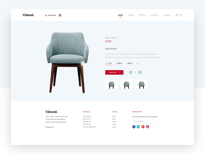 Furniture-Site-Concept - 63+ Impressive Free Furniture Web UI Example [year]