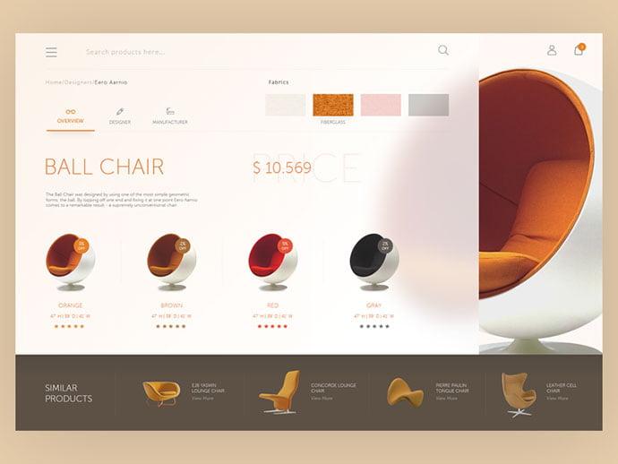 Furniture-web-interface