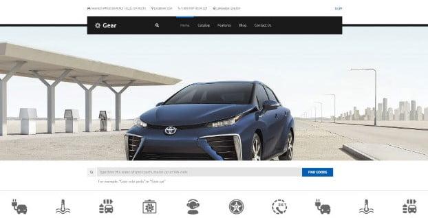 Gear - 28+ Automotive Accessories WordPress Themes [year]