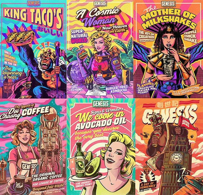 Genesis - 38+ Marvelous Comic Style Illustrations [year]