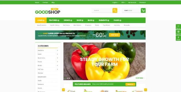 Good-Shop - 39+ Best Fruit & Vegetable WordPress Themes [year]