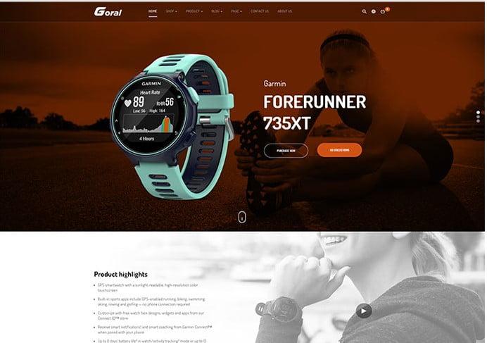 Goral-SmartWatch - 34+ Top Online Watch Shop WordPress Themes [year]
