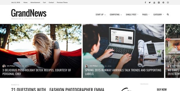 Grand-News - 38+ Awesome WordPress News Templates [year]