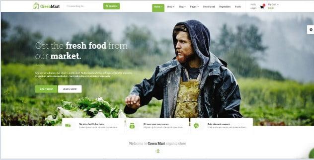 GreenMart - 39+ Best Fruit & Vegetable WordPress Themes [year]