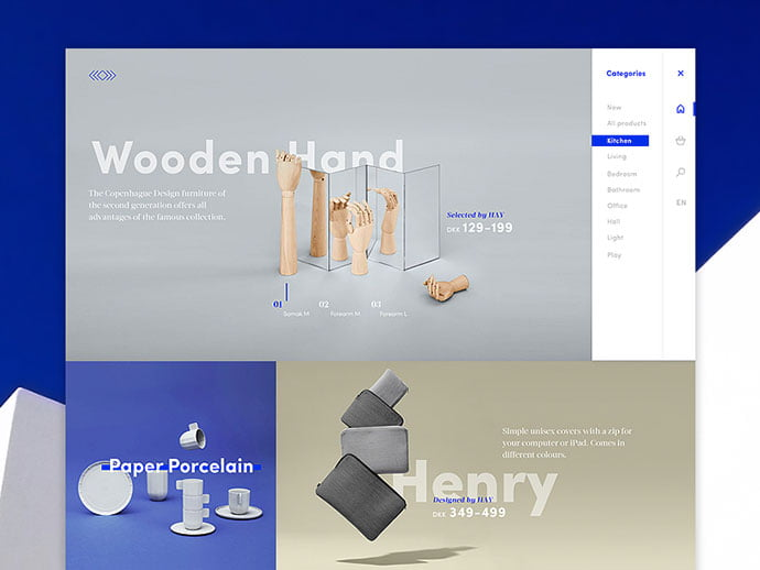 HAY-dribbble - 63+ Impressive Free Furniture Web UI Example [year]