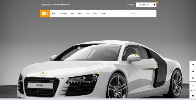 HILL - 28+ Automotive Accessories WordPress Themes [year]