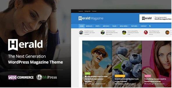 Herald - 38+ Awesome WordPress News Templates [year]