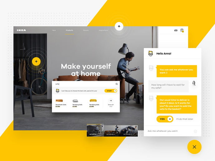 IKEA - 63+ Impressive Free Furniture Web UI Example [year]