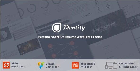 Identity - 34+ Portfolio WordPress Themes For Resume [year]