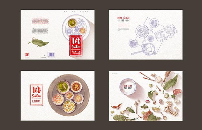 Illustration-Cookbook - 35+ Creative Free Cookbook Designs Example [year]