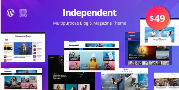 Independent - 38+ Awesome WordPress News Templates [year]