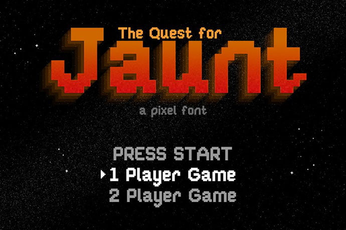 Jaunt - 33+ Lovely Free Retro Pixel & 8-Bit Style Fonts [year]