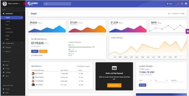 Jumbo-React - 38+ Amazing React Admin Dashboard Templates [year]