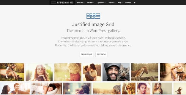 Justified-Image - 28+ Essential Grid Layout WordPress Plugins [year]