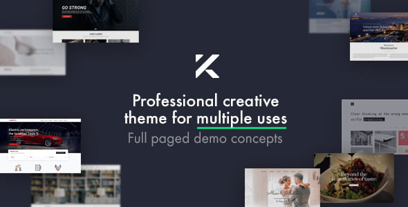 Kalium - 34+ Portfolio WordPress Themes For Resume [year]