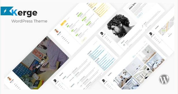 Kerge - 34+ Portfolio WordPress Themes For Resume [year]