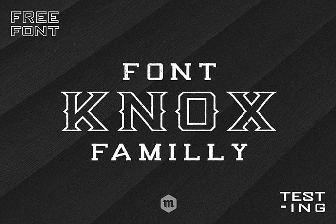 Knox - 39+ Amazing Outline Fonts For Designer [year]