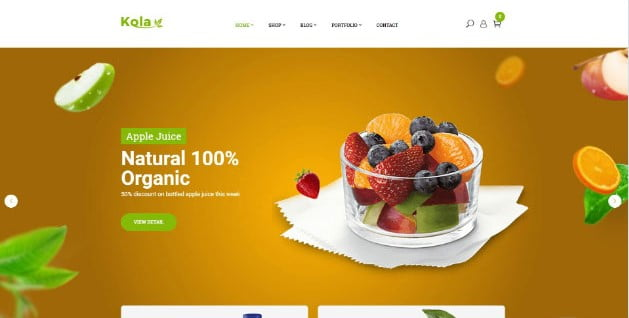 Kola - 39+ Best Fruit & Vegetable WordPress Themes [year]