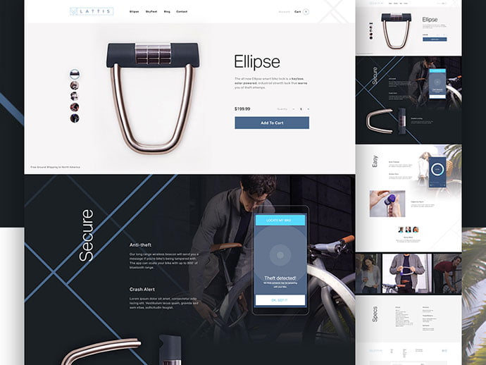 Lattis - 53+ Awesome Shopping Cart UI Designs [year]