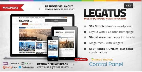 Legatus - 38+ Awesome WordPress News Templates [year]
