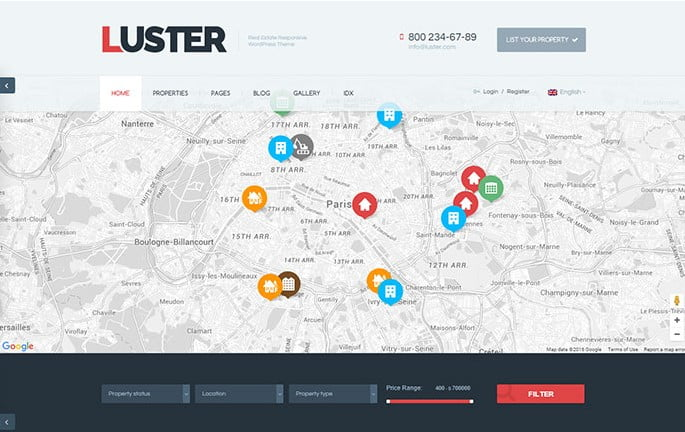Luster - 33+ Amazing Real Estate WordPress Themes [year]