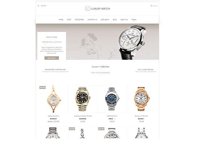 Luxury - 34+ Top Online Watch Shop WordPress Themes [year]