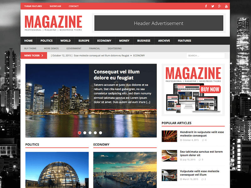 MH-Magazine - 38+ Awesome WordPress News Templates [year]