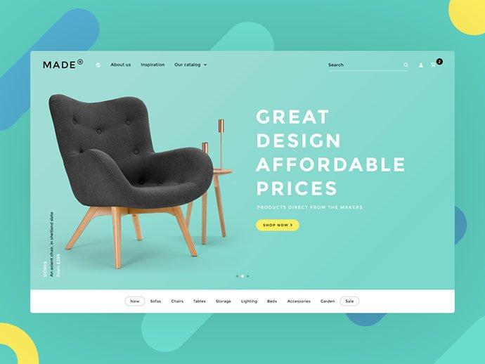 Made - 63+ Impressive Free Furniture Web UI Example [year]