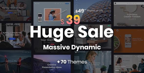 Massive-Dynamic - 34+ Portfolio WordPress Themes For Resume [year]