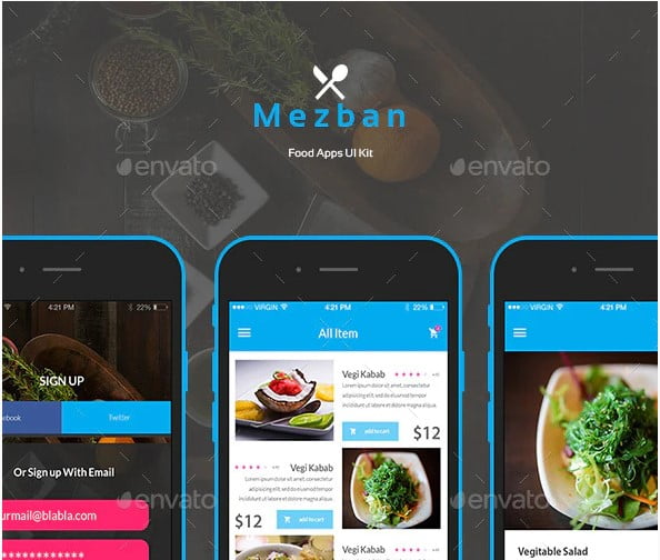 Mezban - 53+ Awesome Shopping Cart UI Designs [year]