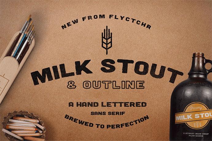 Milk-Stout-Font - 39+ Amazing Outline Fonts For Designer [year]