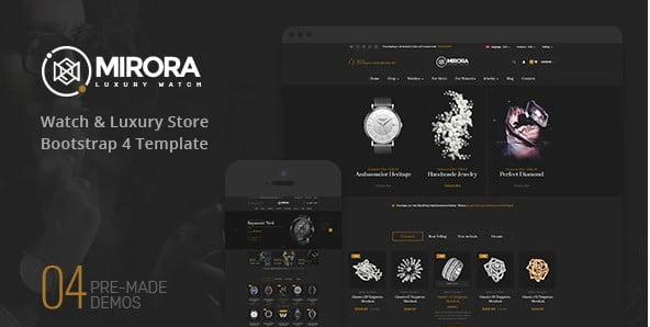 Mirora - 34+ Top Online Watch Shop WordPress Themes [year]