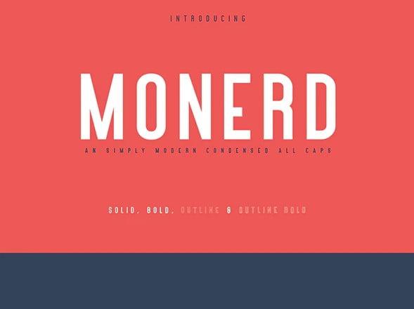 Monerd - 39+ Amazing Outline Fonts For Designer [year]
