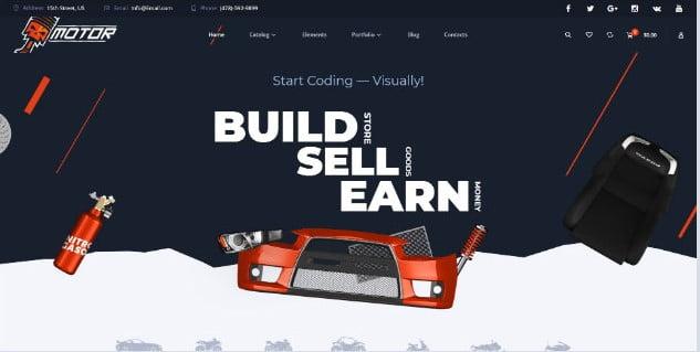 Motor - 28+ Automotive Accessories WordPress Themes [year]
