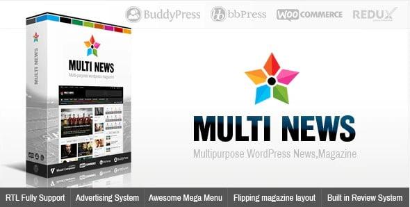 Multinews - 38+ Awesome WordPress News Templates [year]