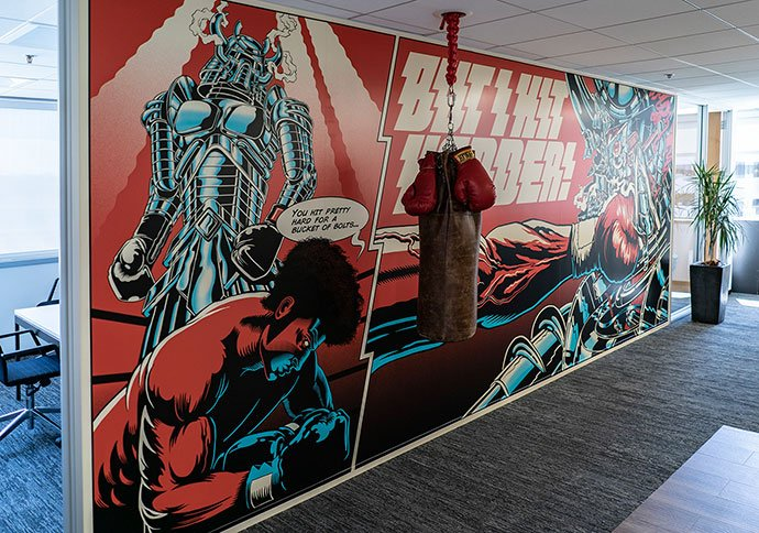 Mural - 38+ Marvelous Comic Style Illustrations [year]