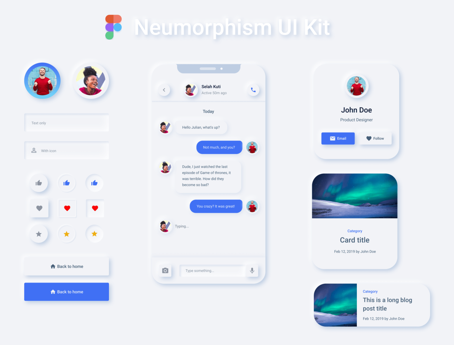 Neumorphism-UI-Kit - 43+ BEST FREE Neumorphism UI Design SAMPLE [year]