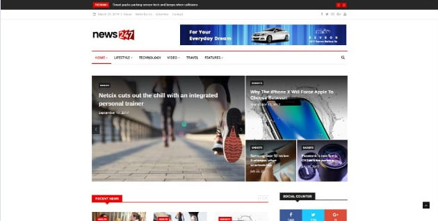 News247 - 33+ Great Science & Technology WordPress Themes [year]