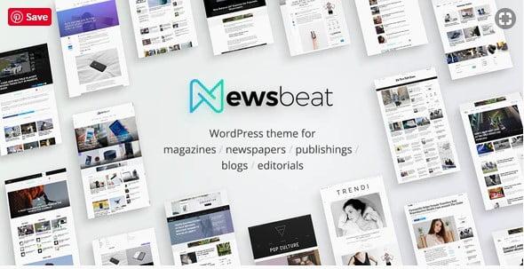 Newsbeat - 38+ Awesome WordPress News Templates [year]